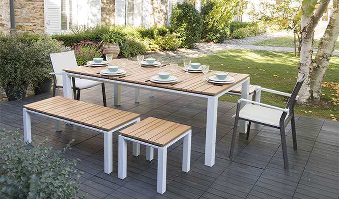 Awesome Table De Jardin Bois Teck Images - Amazing House Design ...